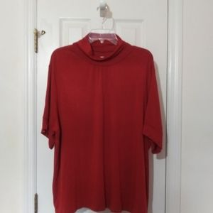 New w/out tag plus size Red blouse